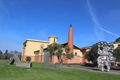 Établissement vinicole de Clos Pegase dans Napa Valley, la Californie Photo libre de droits