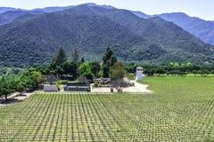 Établissement vinicole le long de la route G16 de route du comté de Monterey Image stock