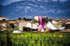 Établissement vinicole Marques de Riscal, Rioja, Espagne de Bodega photos libres de droits