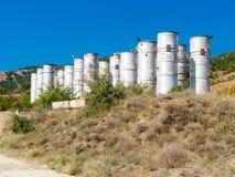 Établissement vinicole non fini dans les sud de l'Europe photographie stock libre de droits