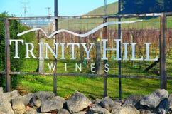 Établissement vinicole Nouvelle-Zélande de colline de trinité photo stock