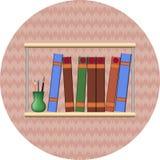 Étagère avec books2 Photos libres de droits