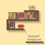 Étagère avec des livres Photos libres de droits