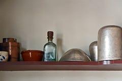 Étagère chez Silversmith Shop, Williamsburg colonial, la Virginie Images stock