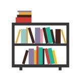 étagère décorative colorée avec des livres Photos stock