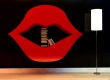 Étagère dans la forme des lèvres illustration stock