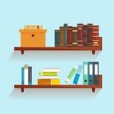 Étagère de vecteur avec des livres illustration libre de droits