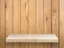 Étagère en bois photographie stock
