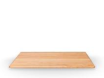 Étagère en bois d'isolement sur le blanc photo stock