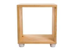 Étagère en bois de module d'isolement sur le fond blanc photo libre de droits