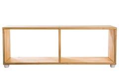 Étagère en bois de module d'isolement sur le fond blanc image stock
