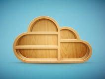 Étagère en bois de nuage Image libre de droits