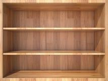 Étagère en bois vide Image stock