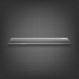 Étagère en verre sur le fond abstrait en métal Photographie stock libre de droits