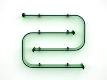 Étagère en verre vert Photo stock