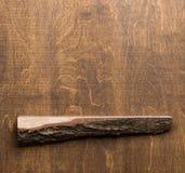 Étagère et mur en bois image stock