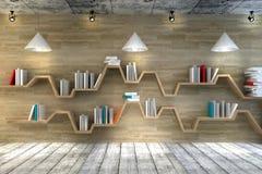 Étagère minimaliste Pièce intérieure moderne avec de beaux meubles illustration libre de droits