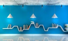 Étagère minimaliste Pièce intérieure moderne avec de beaux meubles illustration stock