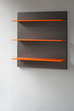 étagère orange Images libres de droits