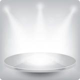 Étagère ronde vide pour l'exposition. Eps10 Photos libres de droits