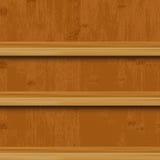Étagères à livres en bois Image stock