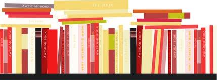 Étagères avec le fond d'illustration de livres Image courante de vecteur Image libre de droits