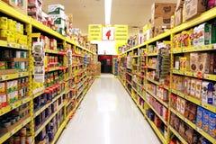 Étagères d'épicerie images libres de droits