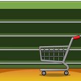Étagères dans un supermarché Photo libre de droits