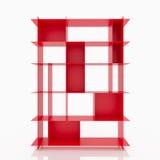 Étagères en aluminium rouges Images stock