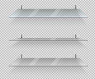 Étagères en verre transparentes illustration de vecteur