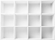 étagères vides Photographie stock libre de droits