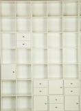 étagères vides Images stock