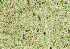 Étage avec la configuration de mosaïque verte de caillou Photographie stock