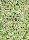 Étage avec la configuration de mosaïque verte de caillou Photo stock