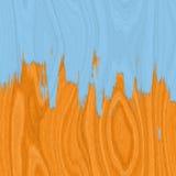 Étage de bois dur et peinture bleue Image libre de droits