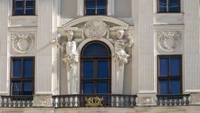 Étage de détail de plan rapproché 2ème, le Reichkanzleitrakt, palais de Hofburg, Vienne, Autriche photos stock