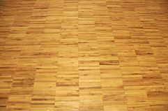 Étage de gymnastique de bois dur Image stock