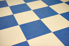 Étage de marbre checkered de couleur Photos libres de droits