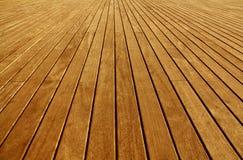Étage de panneaux en bois Photo stock