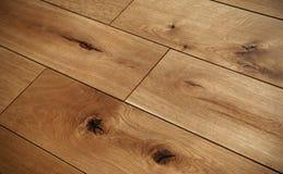 Étage de parquet en bois Photographie stock libre de droits