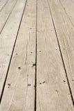 Étage en bois grunge avec de vieux clous Photographie stock