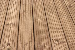 Étage en bois superficiel par les agents Image stock