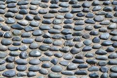 Étage en pierre de galet Image libre de droits