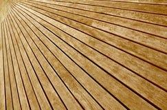 Étage transversal de panneaux en bois Photo stock