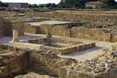 Étages de mosaïque des villas de Romains d'élite Images stock