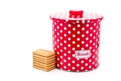 Étain de biscuit image stock