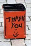 Étain de donation Image stock