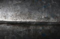 Étain de fer avec la couture, grunge rayée Image stock