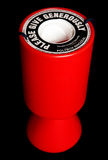 Étain rouge de ramassage de charité Photographie stock