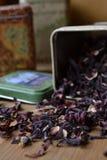 Étain sec de thé Images libres de droits